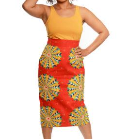 ASH-47 African Print Pencil Skirt R450 -